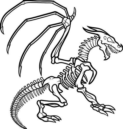 minecraft dinosaurs coloring pages desenho de esqueleto de drag 227 o para colorir tudodesenhos