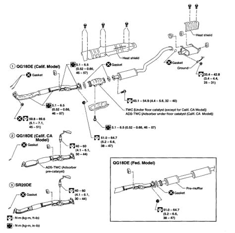 2001 Nissan Quest Exhaust System Diagram 2001 Nissan Sentra Gxe Sensors Heated Code Reader