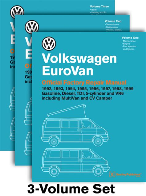 service and repair manuals 1997 volkswagen eurovan user handbook front cover vw volkswagen repair manual eurovan 1992 1999 bentley publishers repair