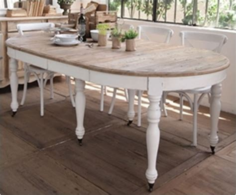 shabby chic design table 192 manger blanc meubles peints