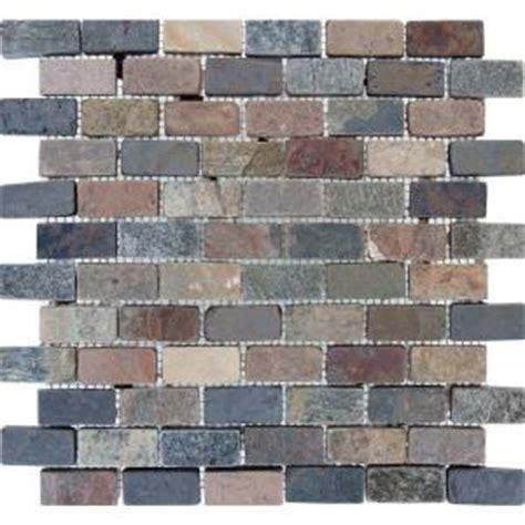 ms international chiaro brick 12 in x 12 in x 10 mm mixed brick 12 in x 12 in x 10 mm tumbled slate mesh