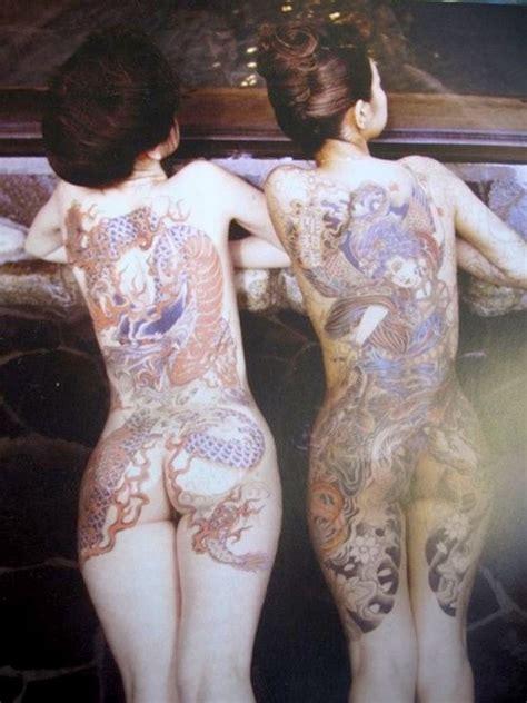 japanese yakuza tattoo female japanese bath house 2 ladies yakuza style japanese