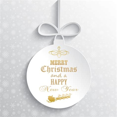 relief white christmas ball background vector free download