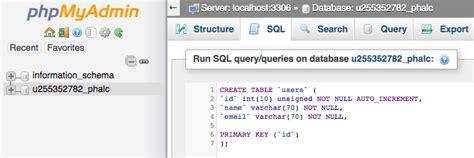 query membuat tabel database tutorial phalcon lengkap untuk pemula