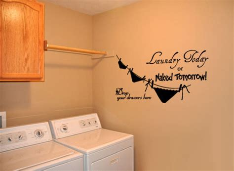 Peel And Stick Wallpaper Tiles big laundry room 4 vinyl wall quote decal by idgrams on etsy