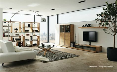 living room designer wooden furniture in a contemporary setting