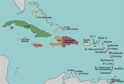 map of caribbean with country names test your geography knowledge caribbean islands lizard