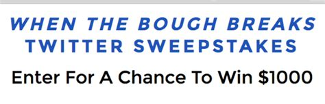 Sony Pictures Sweepstakes - sony pictures when the bough breaks sweepstakes sun sweeps