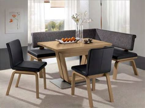 modern dining tables with benches wave corner bench woessner modern dining benches