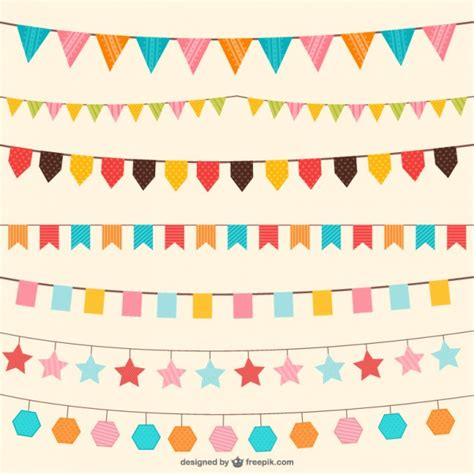 birthday layout vector birthday decorations in different colors vector free