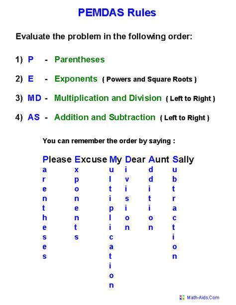Order Of Operations Worksheets 6th Grade by Order Of Operations Worksheets Order Of Operations