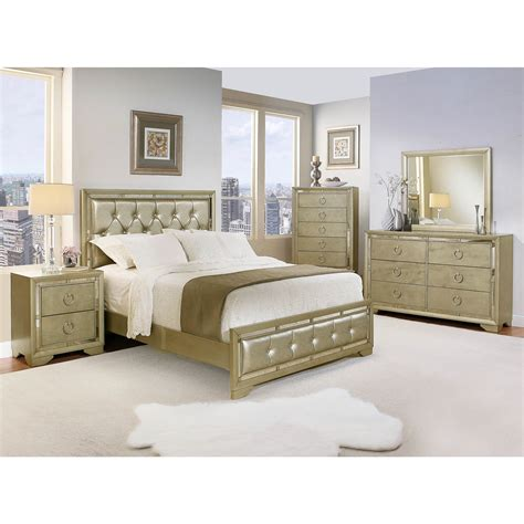 abbyson living penelope queen size  pc mirrored bedroom set gray bjs wholesale club