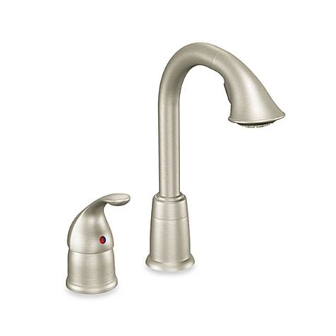 moen kinzel stainless steel one handle pull out kitchen buy moen 174 camerist pull out bar one handle kitchen faucet