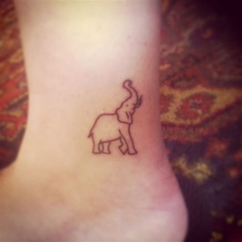 elephant tattoo simple 43 cute outline elephant tattoos