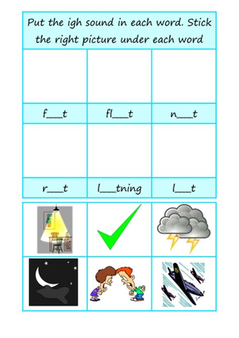 Igh Words Worksheets by Igh Worksheet By Ambroh Teaching Resources Tes