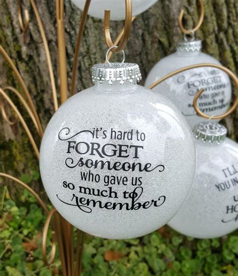diy ornaments for loved ones away large glitter memorial ornament belly boo tique