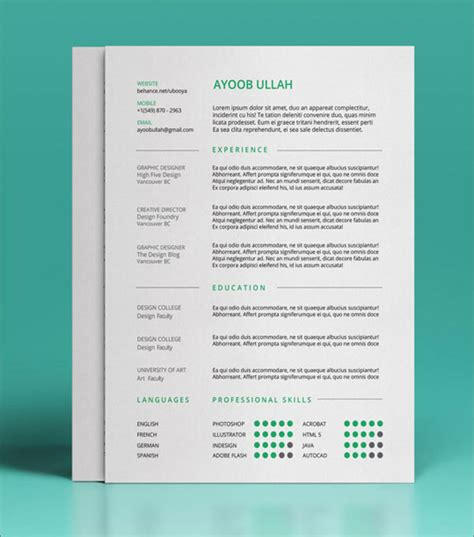 13 free resume templates creative bloq