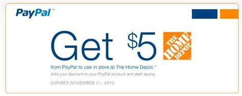 Home Depot Membership by 5 Home Depot Coupon For Paypal Members