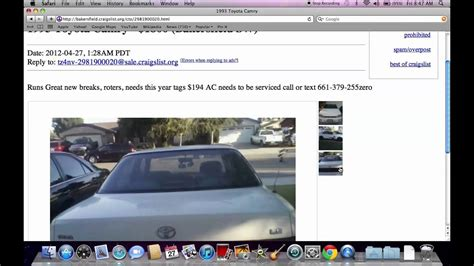 craigslist bakersfield finding  older cars