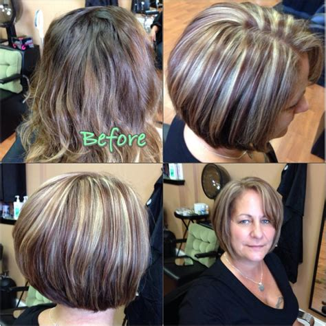 bob hair with high lights and lowlights blonde asymmetrical hair colors ideas