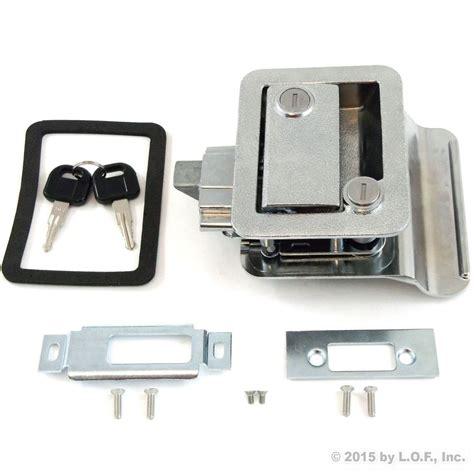 exterior door lock set set rv paddle entry door lock latch handle knob deadbolt new cer trailer kit ebay