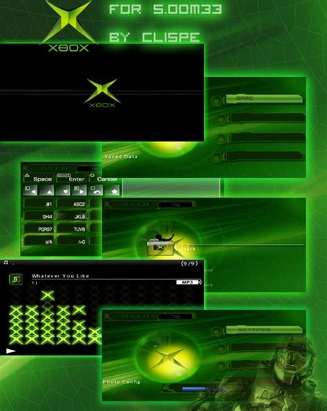 theme psp original original xbox dashboard psp themes for 5 00m33 free psp