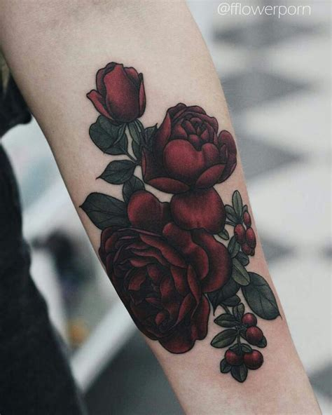 dark red rose tattoos best 10 purple tattoos ideas on colorful