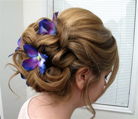 Wedding Hair Accessories Blue by Wedding Hair Accessories Blue Purple Dendrobium Orchid Bobby