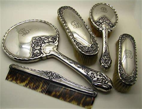 Antique Silver Vanity Set by Antique Silver Vanity Set Bruckman S 246 Hne Jugendstil