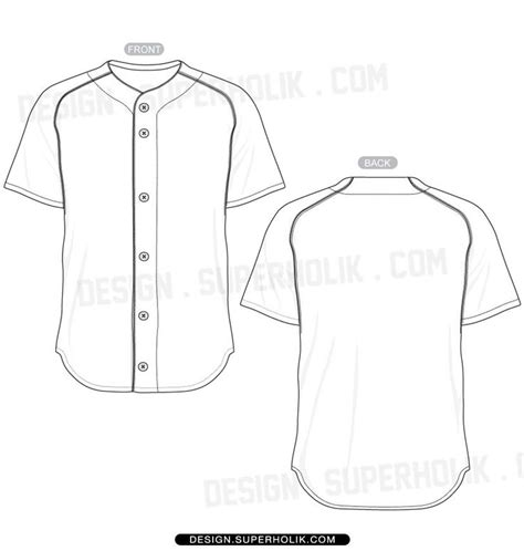 Baseball Shirt Designs Template baseball jersey shirt template set flats illustrator