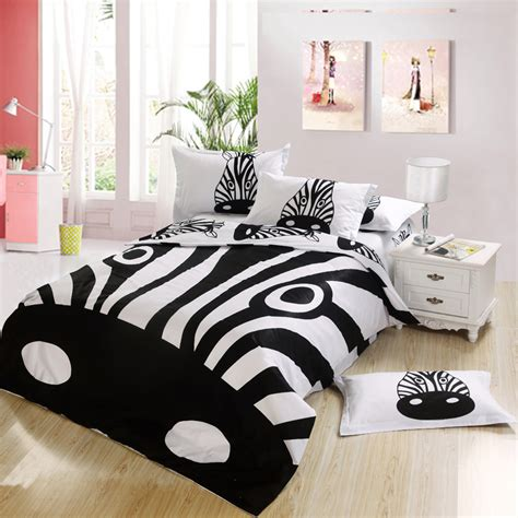 black and white zebra print bedding bedroom set king