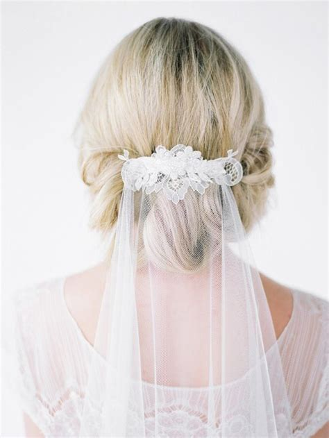 Wedding Hairstyles With Fingertip Veil by 25 Prettiest Lace Bridal Hairpieces Headpieces For Your