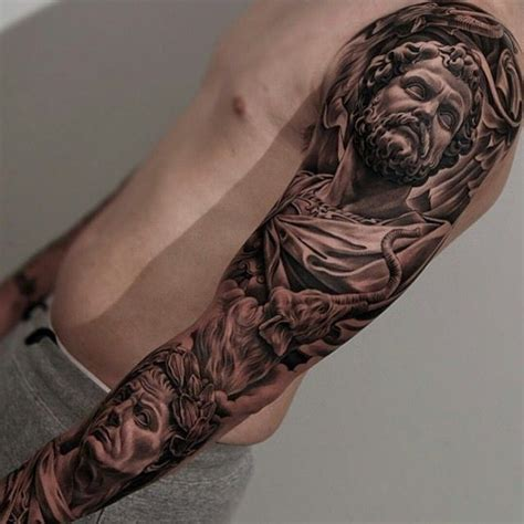 roman sleeve tattoo designs amazing artist jun cha italian sleeve