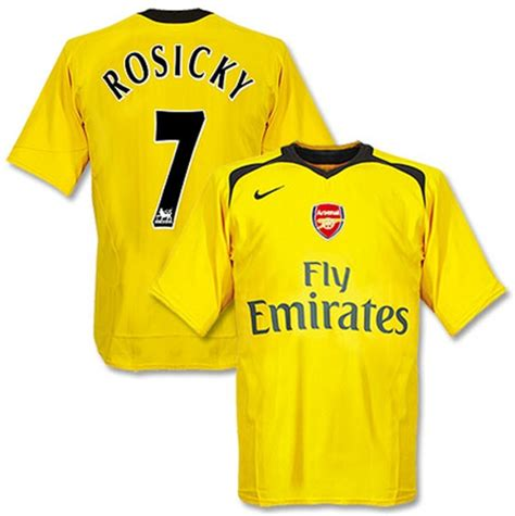 arsenal yellow jersey arsenal jerseys 2006 2007 yellow and dark grey away