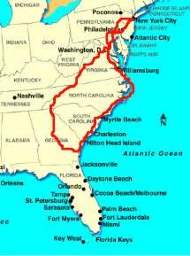 map eastern sea coast usa the bundschuhs 187 2007 187 june
