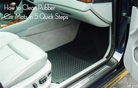 How To Wash Car Mats by How To Clean Rubber Car Mats In 5 Steps Detailxperts