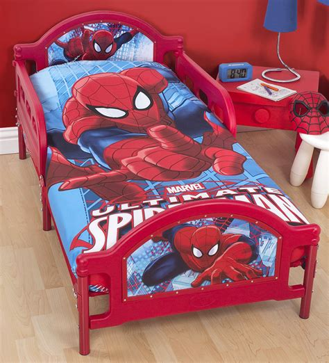spiderman bed set marvel ultimate spiderman city junior toddler bed duvet