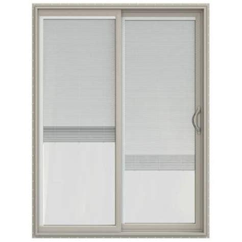 60 X 80 Sliding Patio Door Jeld Wen 60 In X 80 In V 2500 Series Vinyl Sliding Patio Door With Blinds Jw1815 00196 The