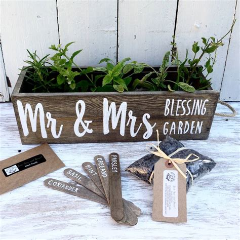 Wedding Blessing Herbs by Personalised Wedding Anniversary Engagement Gift By