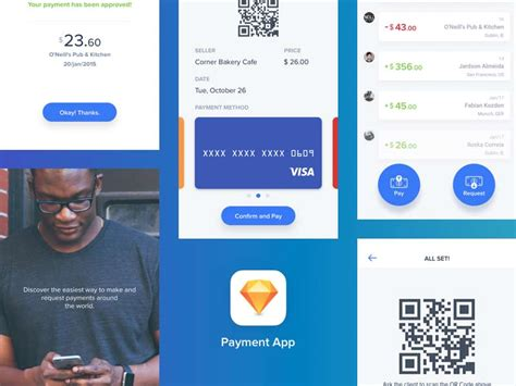 quick design app quick payments app sketch freebie designermill