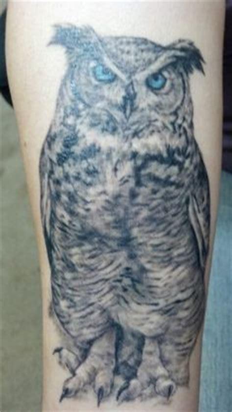 strange daze tattoos animal tree and owl