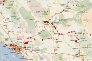 road map of california and nevada road map of arizona nevada and utah my