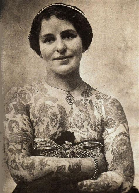 female tattoo history awesome vintage photographs of tattooed women flavorwire