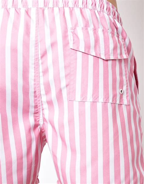 Pink Stripe Shorts From Delias by Lyst Connection Stripe Swim Shorts In Pink