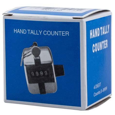 Tally Counter Stainless silver stainless metal 4 digit number clicgolf tally