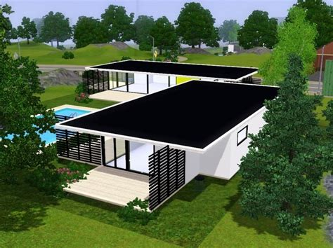 sims 3 modern house floor plans fidji 187 sims 3 modern houses house plans pinterest fidji and sims