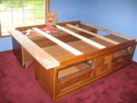 captains bed plans build queen captains bed woodworking projects plans