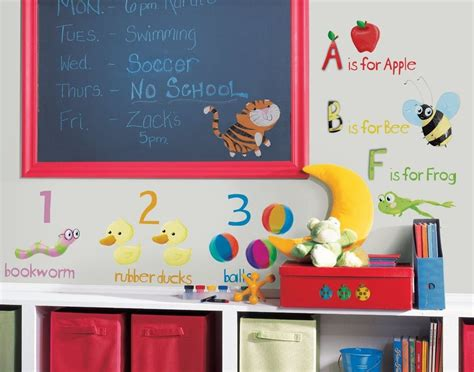 Dr Who Wall Mural abc 123 wall stickers room decor school alphabet decals