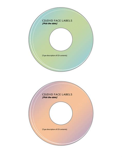 microsoft office cd label template 4 professional