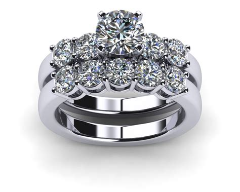 engagement rings wedding sets platinum common prong five
